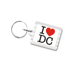 I Love D.C. Plastic Key Chain