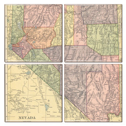 Nevada Map Coaster Set of 4