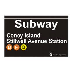 Stillwell Avenue Subway Station Coney Island Magnet
