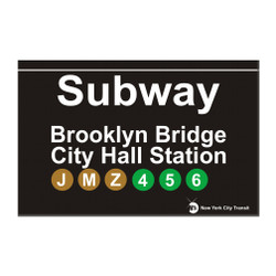 Subway Brooklyn Bridge Magnet