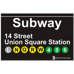 Union Square Replica Subway Sign