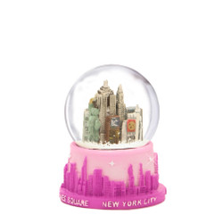 Pink NYC Snow Globe with Skyline