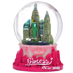 Princess New York Snow Globe