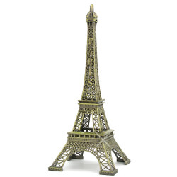 Large Eiffel Tower replica statue souvenirs from Paris, France 15 inches