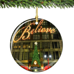 Believe, Macy's Christmas Ornament Porcelain