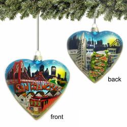 San Francisco Christmas Ornament, Heart
