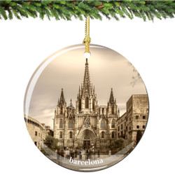 Barcelona Porcelain Christmas Ornament