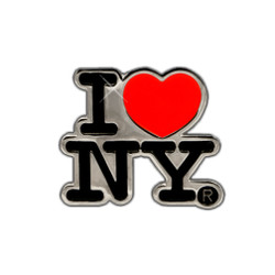 Metal I Love New York Magnet