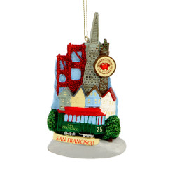 San Francisco Landmarks Ornament for Personalization