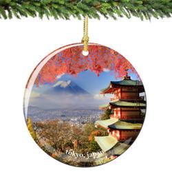 Tokyo Japan Christmas Ornament Porcelain