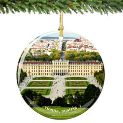 Vienna Austria Christmas Ornament Porcelain