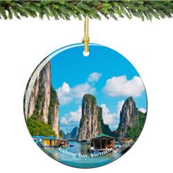 Halong Bay Vietnam Christmas Ornament Porcelain