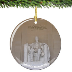 Lincoln Memorial Christmas Ornament