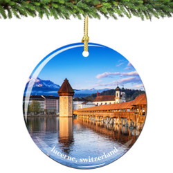 Switzerland Christmas Ornament of Lucerne