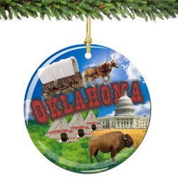 Oklahoma Christmas Ornament