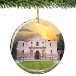 The Alamo Christmas Ornament of Texas