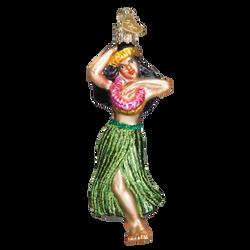Hula Dancer Glass Ornament