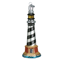 Cape Hatteras Lighthouse Glass Ornament