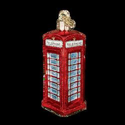 British Phone Booth Glass Ornament