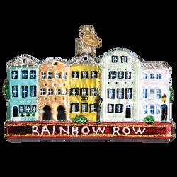 San Francisco Rainbow Row Glass Ornament