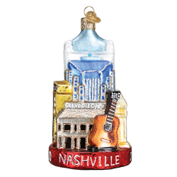 Nashville Landmarks Glass Ornament