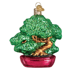 Bonsai Tree Glass Ornament