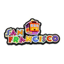 San Francisco Magnet 3D Laser Rubber