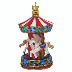 Carousel Christmas Ornament Glass