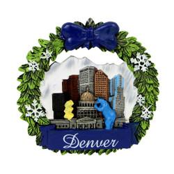 Denver Colorado Christmas Ornament Wreath