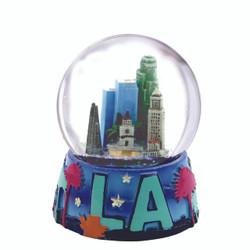 Los Angles Skyline Snow Globe 3.5 Inches