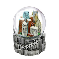 65mm Detroit, Michigan Snow Globe