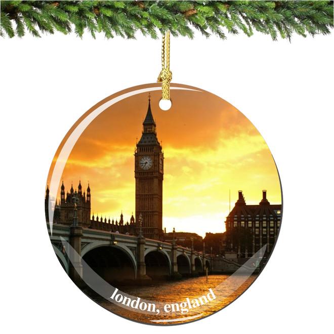 Porcelain Big Ben Christmas Ornament