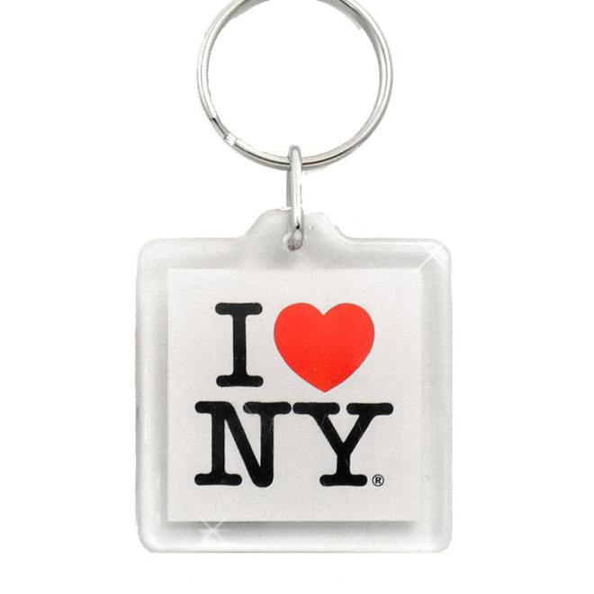 I Love NY Plastic Key Chain