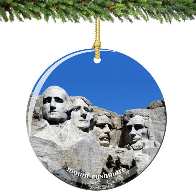 Mount Rushmore Christmas Ornament Porcelain
