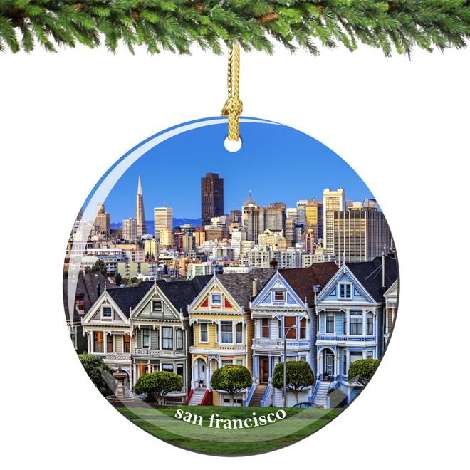 - San Francisco Christmas Ornament Porcelain Skyline