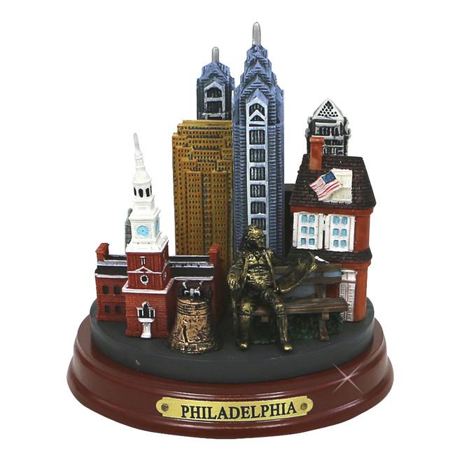 Round Philadelphia Landmarks Model