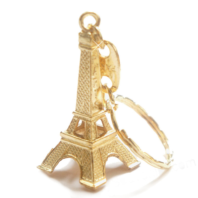 Gold Eiffel Tower Key Chains