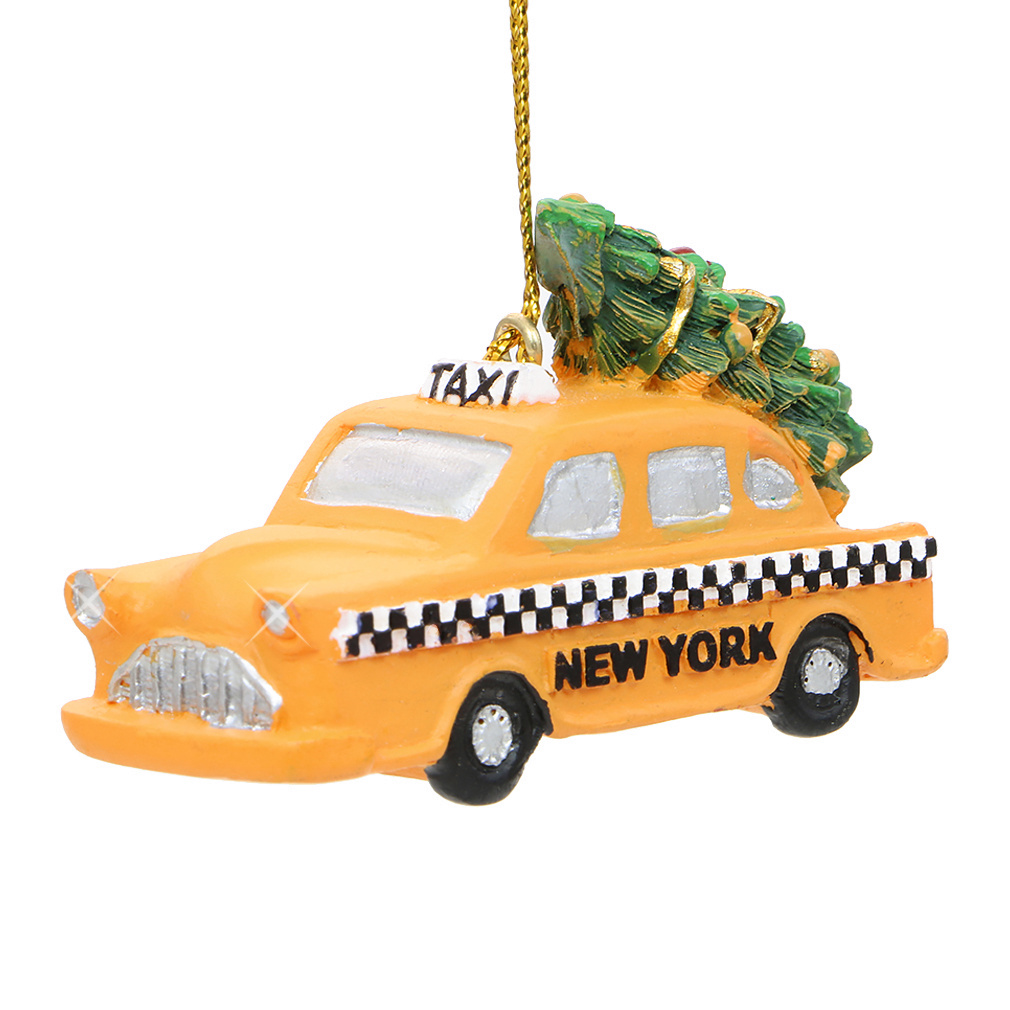 NYC Taxi and Christmas Tree Ornament