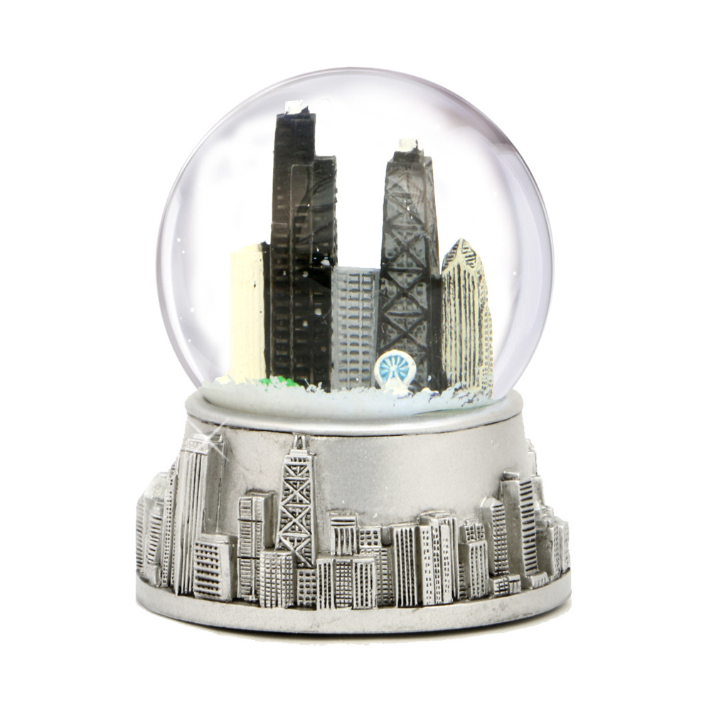 Light Tower Globes: Chicago Snow Globe With Snow