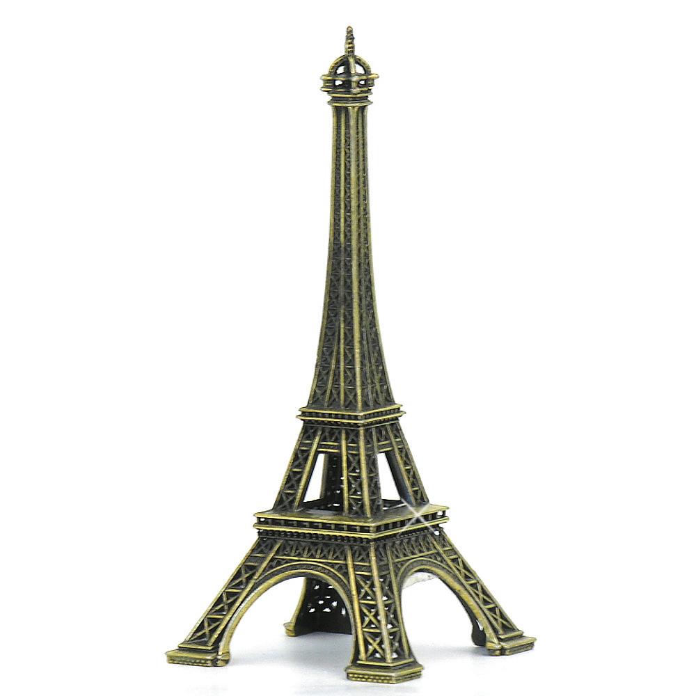 Aluminum Brass Working France: 5 Inch Eiffel Tower Statues Replica Souvenir