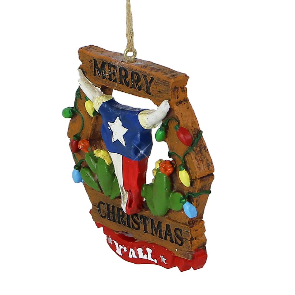 Merry Christmas Ornaments: Texas Christmas Ornament, Merry Christmas Y'All