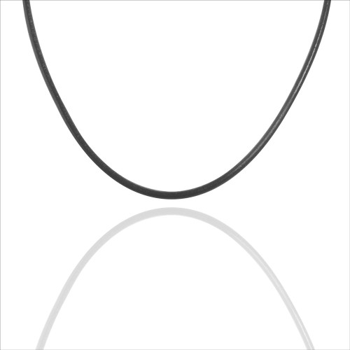 Colby Davis Leather Cord-Black