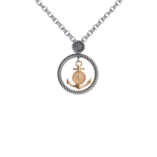 Colby Davis Pendant: Small Rowe's Wharf Vermeil (chain sold separately)