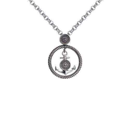 Colby Davis Pendant: Small Rowe's Wharf Sterling (chain sold separately)