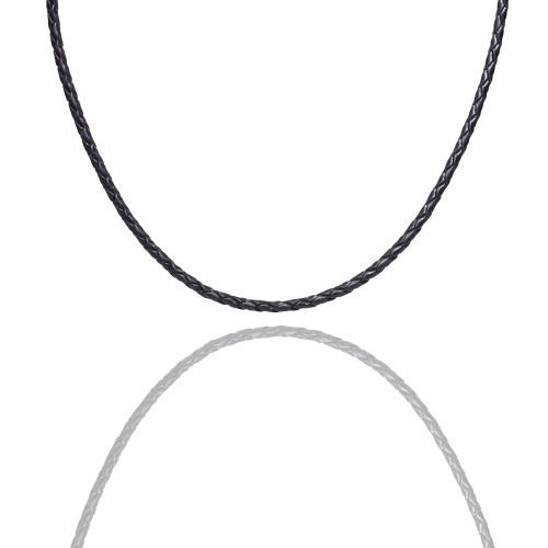 Colby Davis Leather Braided-Black