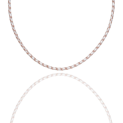 Colby Davis Leather Braided-Pearl