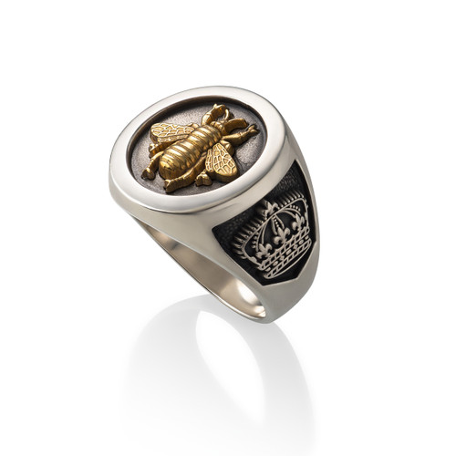 Bee Ring - Sterling Silver & Gold Vermeil