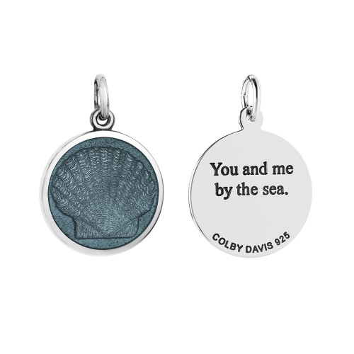Colby Davis Pendant: Small Scallop Shell (chain sold separately)