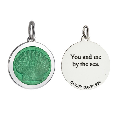 Colby Davis Pendant: Medium Scallop Shell (chain sold separately)
