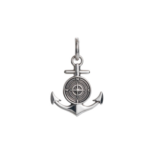 Colby Davis Pendant: Men's Large Rowe's Wharf Anchor Charm Sterling